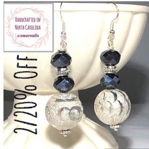 Sterling Silver Earrings w Silver Plate Balls WoW